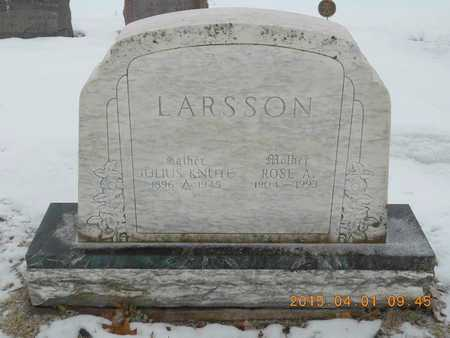 LARSSON, JULIUS KNUTE - Marquette County, Michigan | JULIUS KNUTE LARSSON - Michigan Gravestone Photos