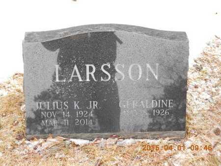 LARSSON, GERALDINE - Marquette County, Michigan   GERALDINE LARSSON - Michigan Gravestone Photos
