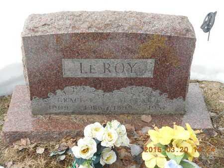 LE ROY, GRACE E. - Marquette County, Michigan | GRACE E. LE ROY - Michigan Gravestone Photos