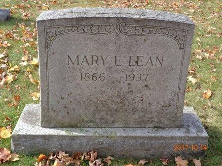 LEAN, MARY A. - Marquette County, Michigan | MARY A. LEAN - Michigan Gravestone Photos