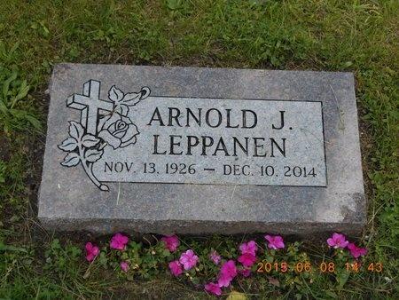 LEPPANEN, ARNOLD J. - Marquette County, Michigan   ARNOLD J. LEPPANEN - Michigan Gravestone Photos
