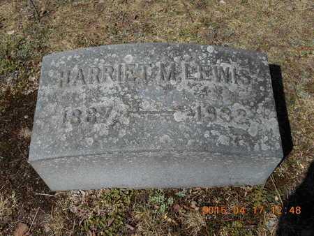 LEWIS, HARRIET M. - Marquette County, Michigan | HARRIET M. LEWIS - Michigan Gravestone Photos