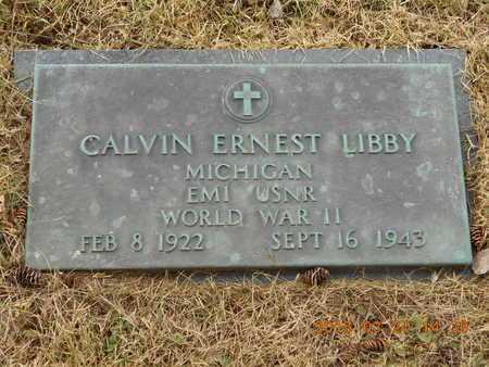 LIBBY, CALVIN ERNEST - Marquette County, Michigan   CALVIN ERNEST LIBBY - Michigan Gravestone Photos