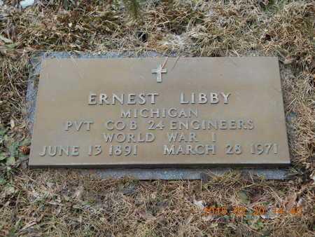 LIBBY, ERNEST - Marquette County, Michigan | ERNEST LIBBY - Michigan Gravestone Photos