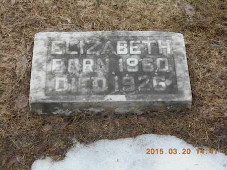 LIBBY, ELIZABETH - Marquette County, Michigan   ELIZABETH LIBBY - Michigan Gravestone Photos