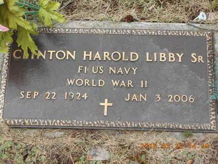 LIBBY, SR., CLINTON HAROLD - Marquette County, Michigan | CLINTON HAROLD LIBBY, SR. - Michigan Gravestone Photos