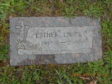 LIBICK, ESTER - Marquette County, Michigan | ESTER LIBICK - Michigan Gravestone Photos