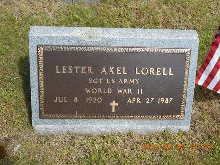 LORELL, LESTER AXEL - Marquette County, Michigan | LESTER AXEL LORELL - Michigan Gravestone Photos