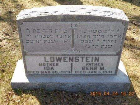 LOWENSTEIN, IDA - Marquette County, Michigan | IDA LOWENSTEIN - Michigan Gravestone Photos