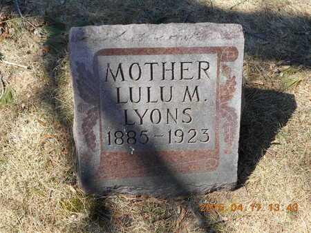 LYONS, LULU M. - Marquette County, Michigan | LULU M. LYONS - Michigan Gravestone Photos
