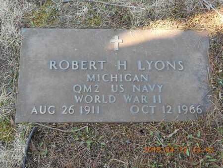 LYONS, ROBERT H. - Marquette County, Michigan   ROBERT H. LYONS - Michigan Gravestone Photos