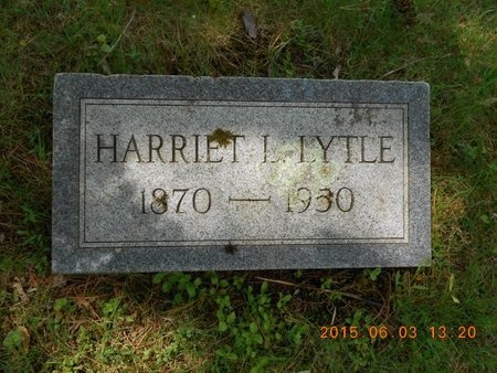 LYTLE, HARRIET L. - Marquette County, Michigan   HARRIET L. LYTLE - Michigan Gravestone Photos