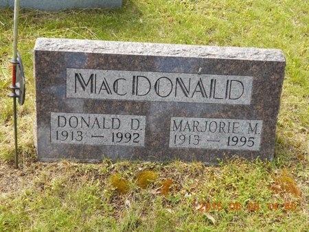 MACDONALD, DONALD D. - Marquette County, Michigan | DONALD D. MACDONALD - Michigan Gravestone Photos