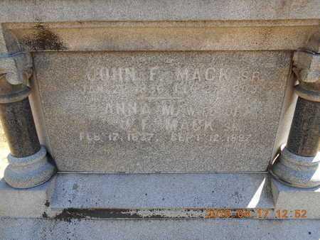 MACK, ANNA M. - Marquette County, Michigan   ANNA M. MACK - Michigan Gravestone Photos