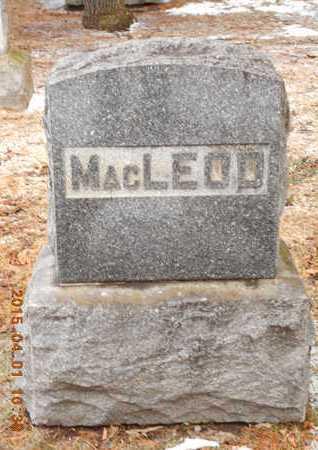MACLEOD, FAMILY - Marquette County, Michigan | FAMILY MACLEOD - Michigan Gravestone Photos
