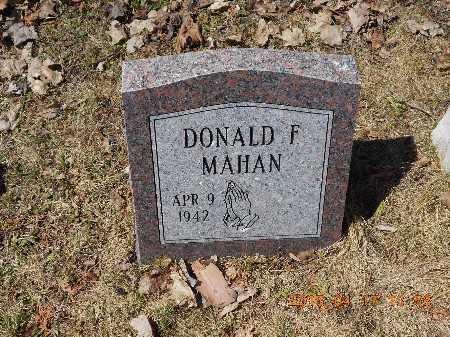 MAHAN, DONALD F. - Marquette County, Michigan   DONALD F. MAHAN - Michigan Gravestone Photos