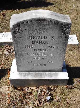 MAHAN, DONALD K. - Marquette County, Michigan   DONALD K. MAHAN - Michigan Gravestone Photos