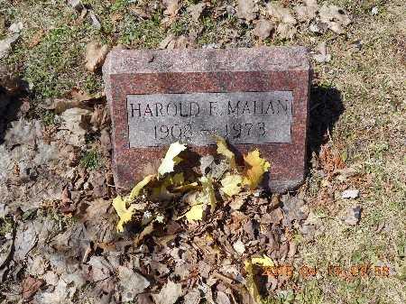 MAHAN, HAROLD E. - Marquette County, Michigan | HAROLD E. MAHAN - Michigan Gravestone Photos