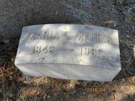 MAHER, MARIA L. - Marquette County, Michigan   MARIA L. MAHER - Michigan Gravestone Photos
