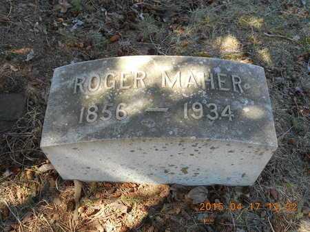 MAHER, ROGER - Marquette County, Michigan | ROGER MAHER - Michigan Gravestone Photos