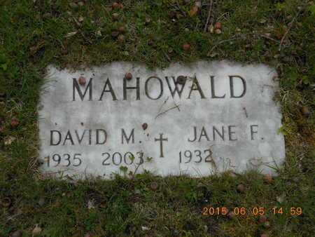 MAHOWALD, DAVID M. - Marquette County, Michigan | DAVID M. MAHOWALD - Michigan Gravestone Photos