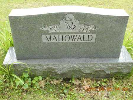 MAHOWALD, FAMILY - Marquette County, Michigan | FAMILY MAHOWALD - Michigan Gravestone Photos