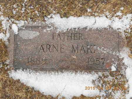 MAKI, ARNE - Marquette County, Michigan | ARNE MAKI - Michigan Gravestone Photos