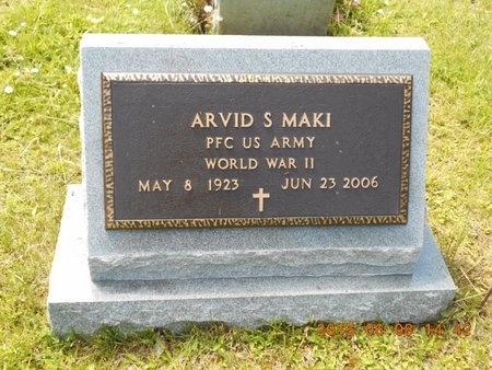 MAKI, ARVID S. - Marquette County, Michigan   ARVID S. MAKI - Michigan Gravestone Photos