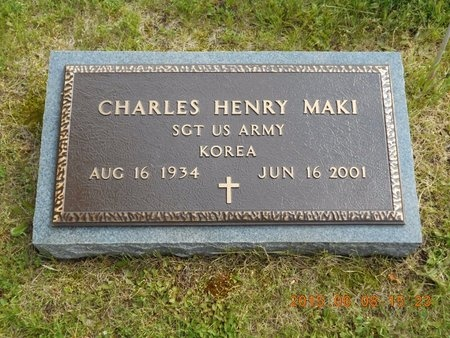 MAKI, CHARLES HENRY - Marquette County, Michigan | CHARLES HENRY MAKI - Michigan Gravestone Photos