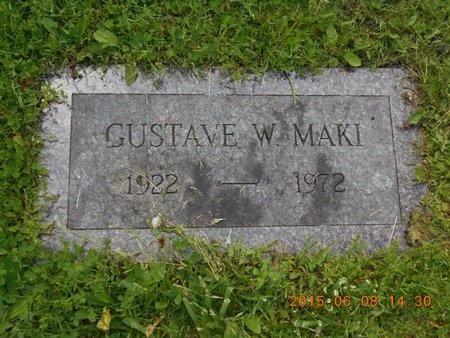 MAKI, GUSTAVE W. - Marquette County, Michigan | GUSTAVE W. MAKI - Michigan Gravestone Photos