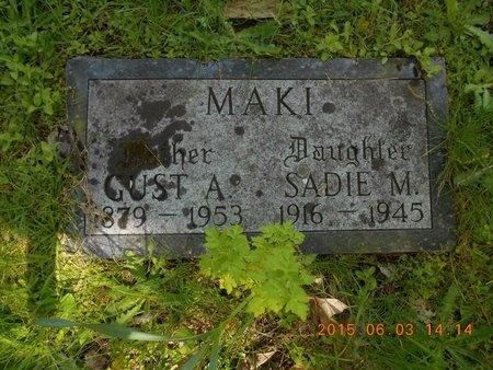 MAKI, GUST A. - Marquette County, Michigan   GUST A. MAKI - Michigan Gravestone Photos