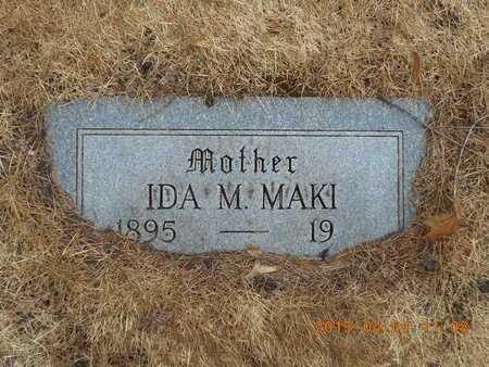 MAKI, IDA M. - Marquette County, Michigan | IDA M. MAKI - Michigan Gravestone Photos