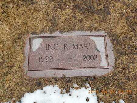 MAKI, INO K. - Marquette County, Michigan | INO K. MAKI - Michigan Gravestone Photos