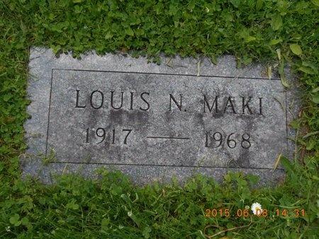 MAKI, LOUIS N. - Marquette County, Michigan   LOUIS N. MAKI - Michigan Gravestone Photos