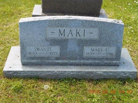 MAKI, MARY U. - Marquette County, Michigan   MARY U. MAKI - Michigan Gravestone Photos