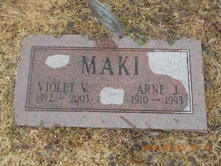 MAKI, VIOLET V. - Marquette County, Michigan | VIOLET V. MAKI - Michigan Gravestone Photos