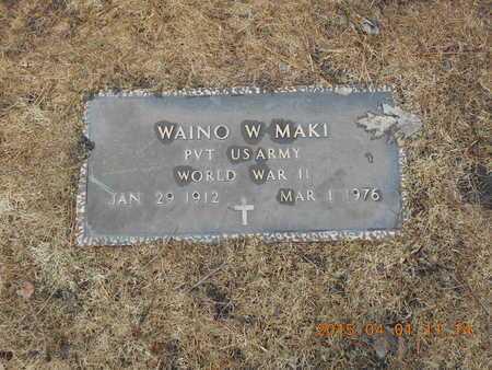 MAKI, WAINO W. - Marquette County, Michigan   WAINO W. MAKI - Michigan Gravestone Photos