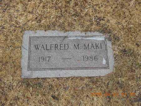 MAKI, WALFRED M. - Marquette County, Michigan | WALFRED M. MAKI - Michigan Gravestone Photos