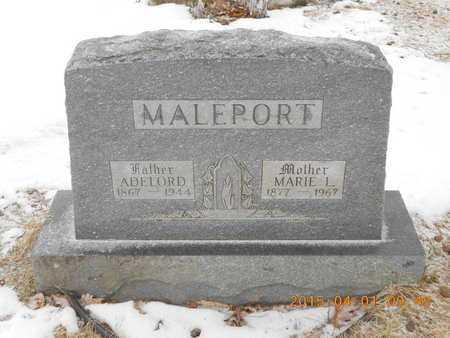 MALEPORT, MARIE L. - Marquette County, Michigan | MARIE L. MALEPORT - Michigan Gravestone Photos
