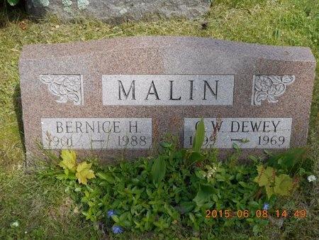 MALIN, C.W. DEWEY - Marquette County, Michigan   C.W. DEWEY MALIN - Michigan Gravestone Photos