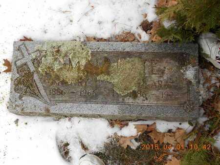MALLETTE, CLARA - Marquette County, Michigan | CLARA MALLETTE - Michigan Gravestone Photos