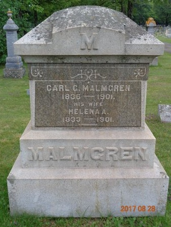 MALMGREN, HELENA A. - Marquette County, Michigan | HELENA A. MALMGREN - Michigan Gravestone Photos