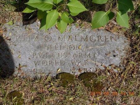 MALMGREN, FRITZ O. - Marquette County, Michigan   FRITZ O. MALMGREN - Michigan Gravestone Photos