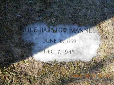 BARSTOW MANNESS, ALICE - Marquette County, Michigan | ALICE BARSTOW MANNESS - Michigan Gravestone Photos