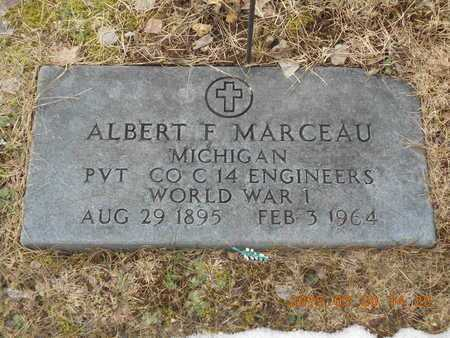 MARCEAU, ALBERT F. - Marquette County, Michigan | ALBERT F. MARCEAU - Michigan Gravestone Photos