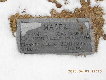 MASEK, JEAN EMILY - Marquette County, Michigan | JEAN EMILY MASEK - Michigan Gravestone Photos