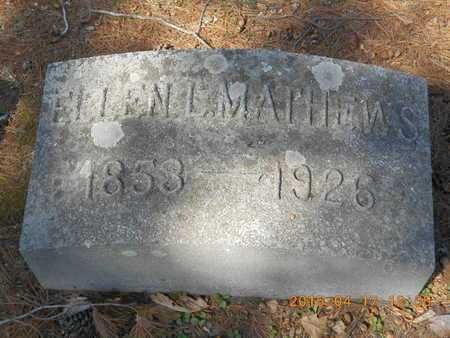 MATHEWS, ELLEN L. - Marquette County, Michigan   ELLEN L. MATHEWS - Michigan Gravestone Photos
