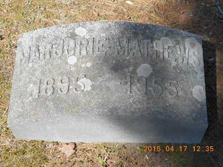 MATHEWS, MARJORIE - Marquette County, Michigan   MARJORIE MATHEWS - Michigan Gravestone Photos