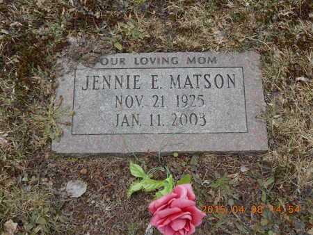 MATSON, JENNIE E. - Marquette County, Michigan | JENNIE E. MATSON - Michigan Gravestone Photos