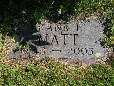 MATT, FRANK L. - Marquette County, Michigan   FRANK L. MATT - Michigan Gravestone Photos